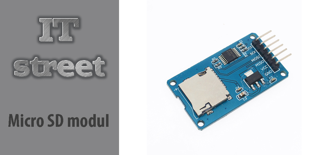 Micro SD card read/write modul